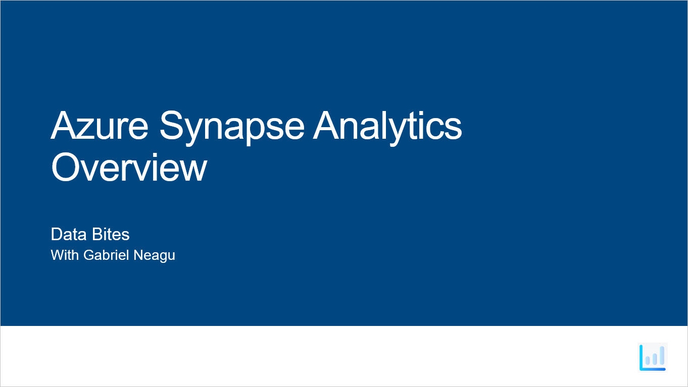Azure Synapse Analytics – Overview